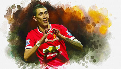 Angel Di Maria Of Manchester United Original by Don Kuing