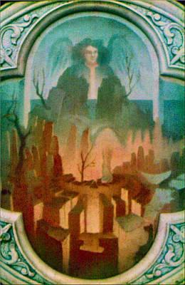 Painting - Angel Gabriel 1975 by Glenn Bautista