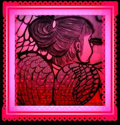 Angel Leah 2 Art Print by Maryann  DAmico
