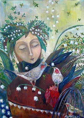 Painting - Angel Of Summer by Aurelija Kairyte-Smolianskiene