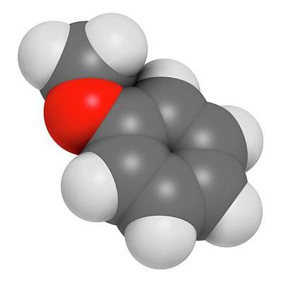 Anisole Molecule Art Print by Molekuul