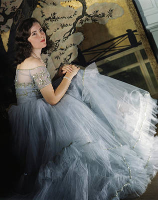 Photograph - Anne Bullitt Wearing A Tulle Gown by Horst P. Horst