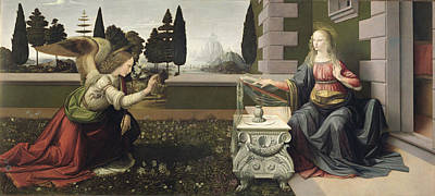 Annunciation Drawing - Annunciation by Celestial Images