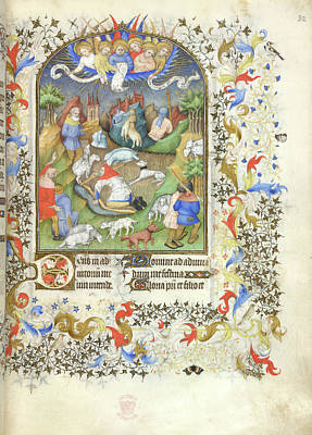 Annunciation To The Shepherds Art Print by British Library