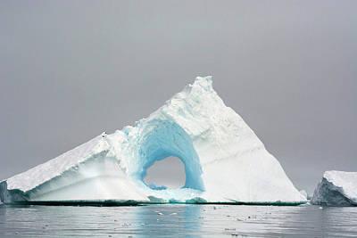 Charlotte Photograph - Antarctica Charlotte Bay Giant Iceberg by Inger Hogstrom