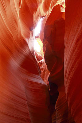 Photograph - Antelope Canyon In Winter Light 4 by Alan Vance Ley