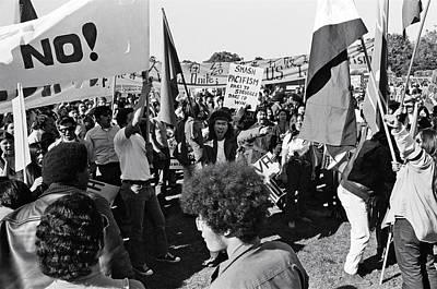 Adler Wall Art - Photograph - Anti Vietnam War Demonstration by Underwood Archives Adler