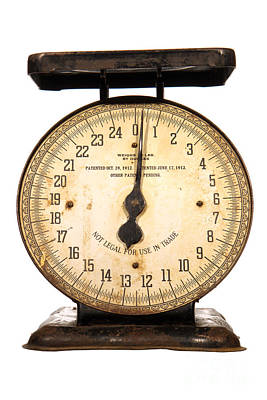 Weigh Photograph - Antique Scale by Olivier Le Queinec