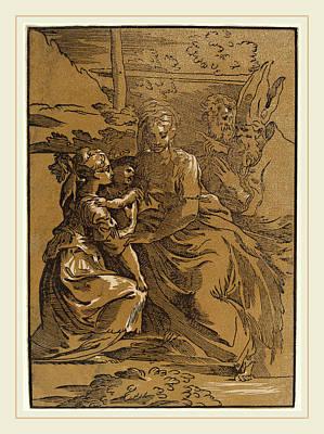 Brown Tones Drawing - Antonio Da Trento After Parmigianino Italian by Litz Collection