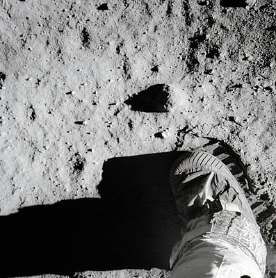 Aldrin Photograph - Apollo 11 Bootprint On Moon by Nasa