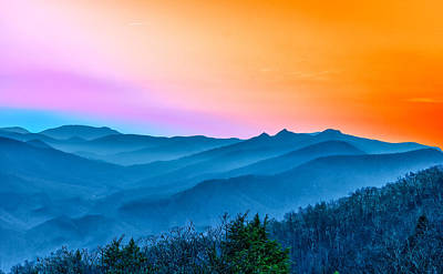 Photograph - Smoky Mountain Sunset by Victor Culpepper