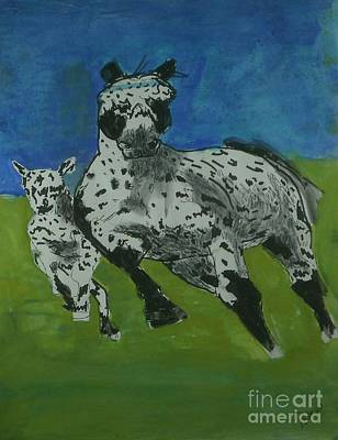 Painting - Appaloosa by Patries Van Dokkum