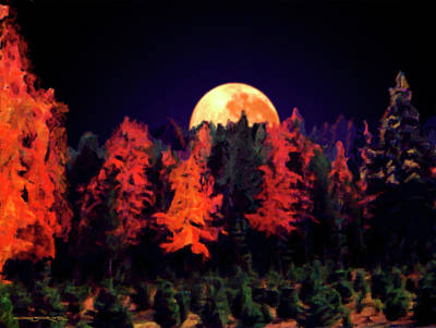 Apple Hill Moonrise Art Print