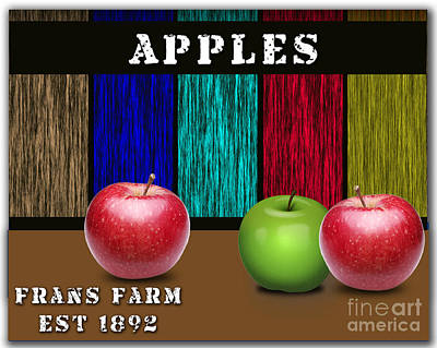 Fruits Mixed Media - Apples by Marvin Blaine