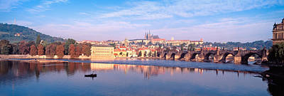 Vltava Photograph - Arch Bridge Across A River, Charles by Panoramic Images