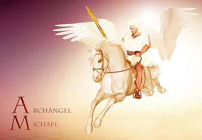 Painting - Archangel Michael by Valerie Anne Kelly