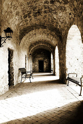 Photograph - Arches And Light In Stone Hall by Lincoln Rogers