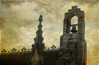 Photograph - Architectural Detail Of Gothic Revival Chapel. Dublin Castle. Streets Of Dublin. Gothic Collection by Jenny Rainbow