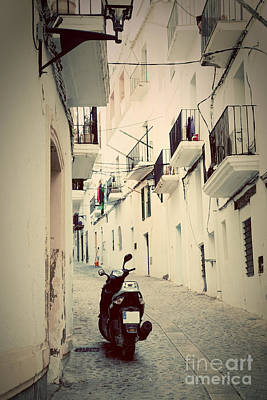 Photograph - Architecture Of Old City Of Ibiza Spain by Michal Bednarek