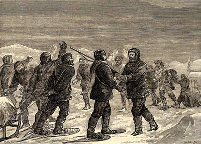 Arctic Expedition Led By John Franklin Art Print