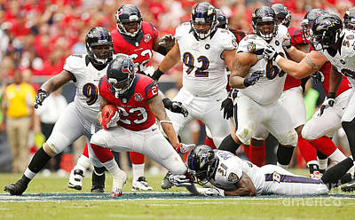 Arian Foster Print by Marvin Blaine