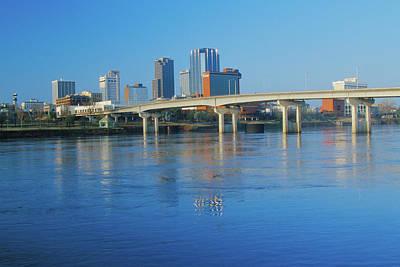 Arkansas River And Skyline In Little Art Print