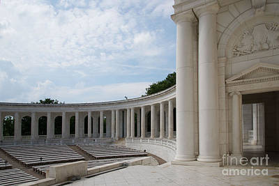 Mountain Landscape Royalty Free Images - Arlington Memorial Amphitheater Royalty-Free Image by Carol Ailles