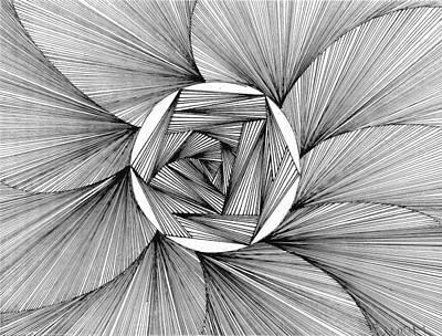 Zentangle Mixed Media - Around We Go by Sierra  Mallo