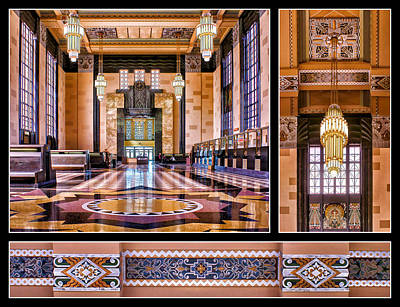 Photograph - Art Deco Durham Triptych 2 by Nikolyn McDonald