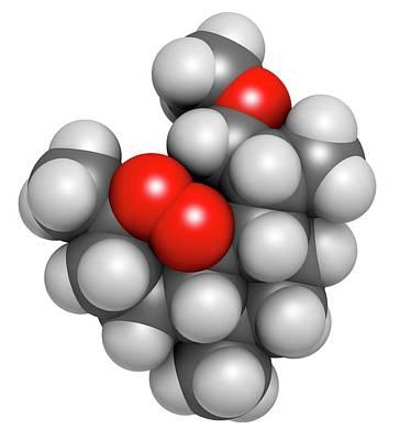 Molecule Photograph - Artemether Malaria Drug Molecule by Molekuul