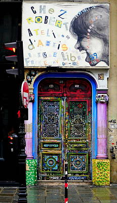 Artistic Door In Paris France Art Print by Richard Rosenshein