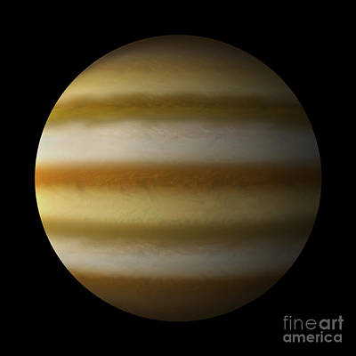 Jovian Digital Art - Artists Depiction Of A Gas Giant Planet by Marc Ward
