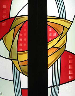 Glass Art - Arts And Crafts Abstract by Gilroy Stained Glass