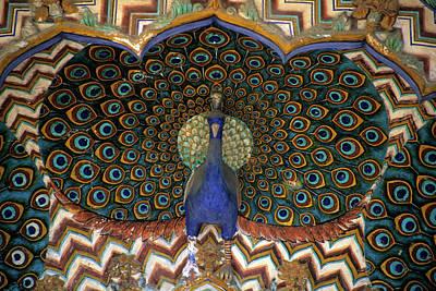 Carved Bird Photograph - Asia, India, Jaipur by Kymri Wilt