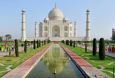Arches Memorial Photograph - Asia, India, Uttar Pradesh, Agra by Steve Roxbury