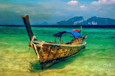 Lanta Photograph - Asian Longboat by Adrian Evans