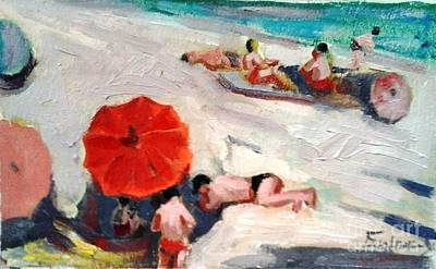 Painting - At The Beach by George Siaba