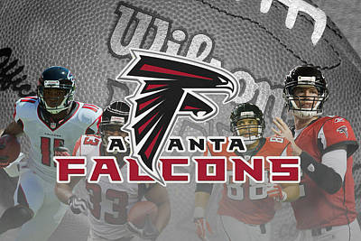 Atlanta Falcons Art Print by Joe Hamilton
