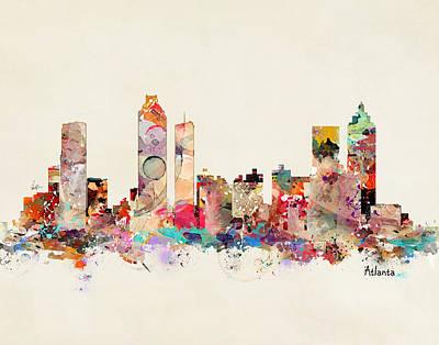 Painting - Atlanta Georgia Skyline by Bri B