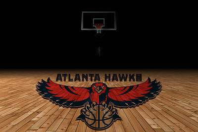Atlanta Hawks Art Print by Joe Hamilton