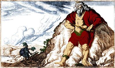 Atlas And Perseus, Greek Mythology Art Print