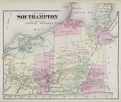 Atlas Of Long Island Art Print