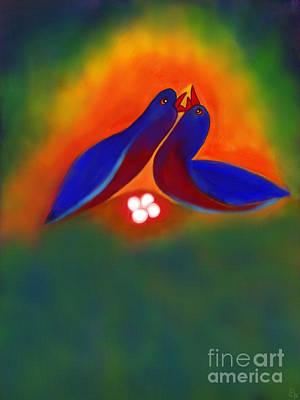 Art Print featuring the digital art Attuned by Latha Gokuldas Panicker