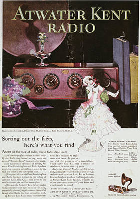 Atwater Painting - Atwater Kent Radio Ad, 1926 by Granger