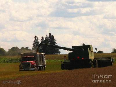 Painting - August Harvest by J McCombie