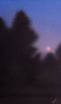 Painting - August Moon by Robin Street-Morris