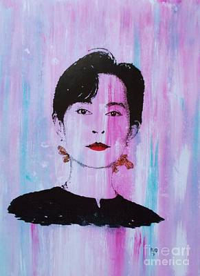 Democracy Painting - Aung San Suu Kyi by Roberto Prusso
