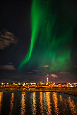 Space Photograph - Aurora Borealis Or Northern Lights by Panoramic Images
