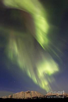 Photograph - Aurora Borealis Over Emerald Lake by Joseph Bradley