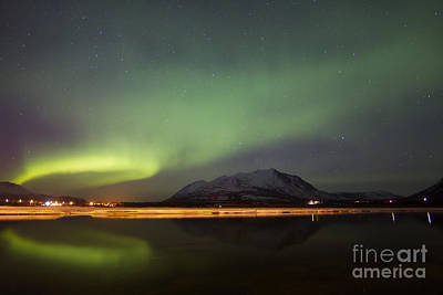 Graduation Hats - Aurora Borealis Over Nares Lake by Joseph Bradley